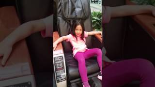 When it's your first time on a massage chair! 😂😂😂