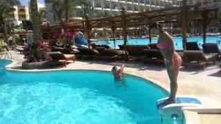 Приколы в бассейне. Египет. Фестиваль.