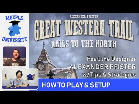 Great Western Trail: Rails to the North Expansion Board Game – How to Play feat. Alexander Pfister