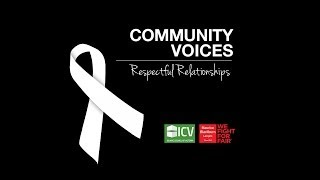 Respectful Relationships - Community Voices - White Ribbon Day