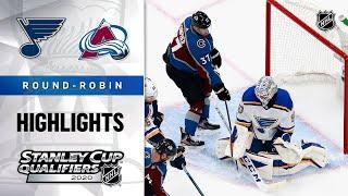 NHL Highlights | Blues @ Avalanche, Round-Robin - Aug. 2, 2020