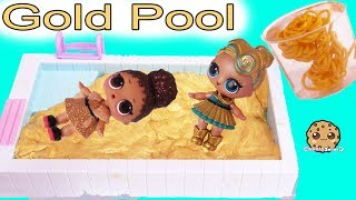 LOL Surprise Dolls Swim In Gold Water ? Golden Metallic DIY Slime Craft Kit