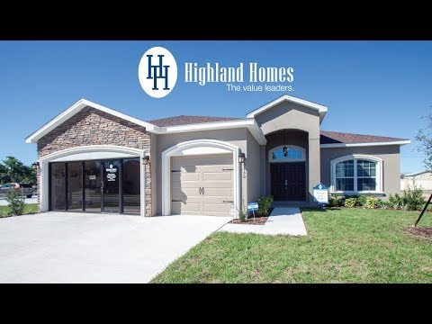Westin home plan by Highland Homes - Florida New Homes for Sale
