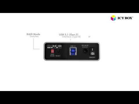 ICY BOX IB-RD2253 - External RAID system for 2x 2.5