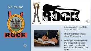 S2 Rock Presentation Home Learning 2