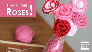 How to Knit ROSE FLOWERS | Summer Knit Series