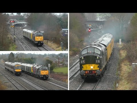 Class 37 thrash on Class 350 drags in the Worcester area Jan…