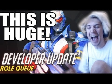 xQc Reacts to Overwatch Developer Update | Role Queue | New Patch Notes!