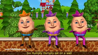 Humpty Dumpty Nursery Rhyme - 3D Animation English Rhymes for children
