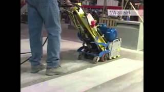 Аренда машины для фрезирования бетона WERK JG 200E - видео 1