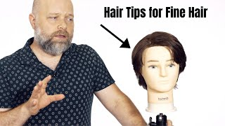 Hair Tips For Fine Hair - TheSalonGuy
