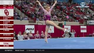 Anastasia Webb (Oklahoma) 2018 Floor vs Nebraska 9.9