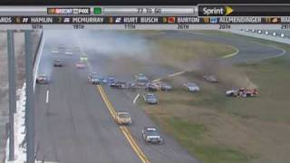 2009 NASCAR Dale Earnhardt Jr Vs Brian Vickers Daytona 500 Live HD