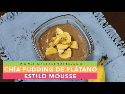 Receta de pudding de plátano con chía | Cómo hacer mousse de plátano vegana | Postre saludable