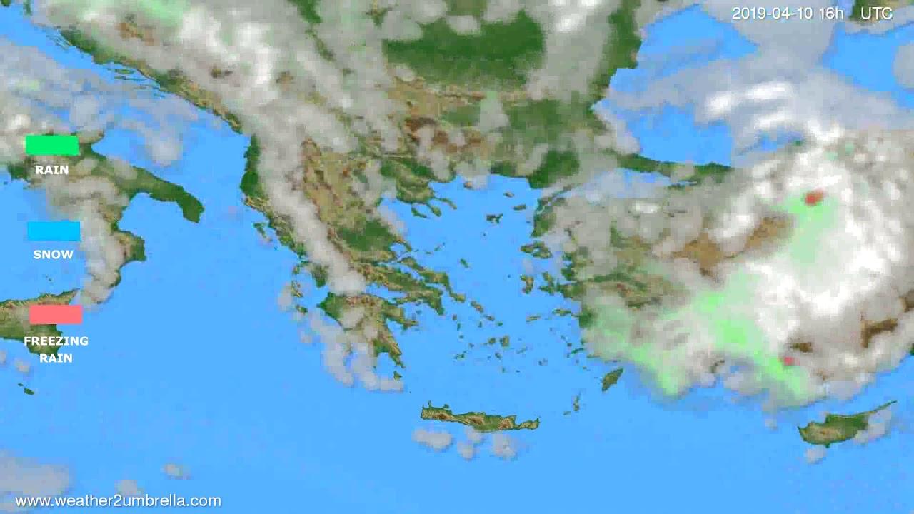 Precipitation forecast Greece // modelrun: 00h UTC 2019-04-09