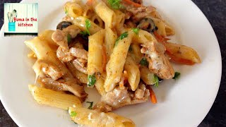 Chicken Pasta – Chicken and Cheese Pasta Recipe by (HUMA IN THE KITCHEN)
