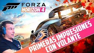 FORZA HORIZON 4 DEMO | PRIMERAS IMPRESIONES CON VOLANTE | GTro_stradivar Gameplay Español
