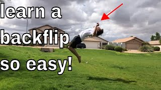 How To DO A BACKFLIP ON GROUND Step By Step TUTORIAL!