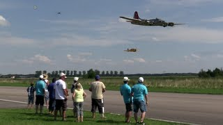 "19 ft. B-17 ""Flying Fortress"" Flying Together With 6 Other Warbirds"