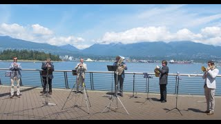 Vancouver Symphony Musicians Perform O Canada in Gorgeous Downtown Vancouver