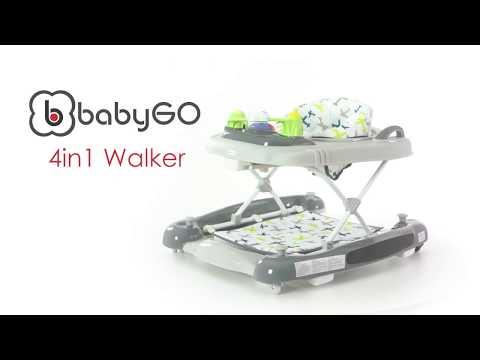BabyGo Lauflernhilfe 4in1 Walker Lauflernstuhl Lauflernwagen Gehfrei by Knirpsenland