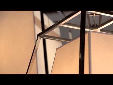 Video for Kyle Aged Brass Four-Light Pendant with Cream Shade