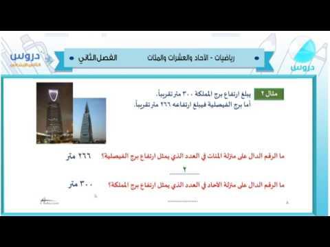 الثاني الابتدائي| الفصل الدراسي الثاني 1438 | رياضيات |الاحاد والعشرات والمئات