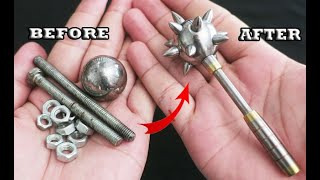 DIY Making a Mini Flange Mace from Scrap iron and Screws