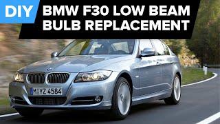 BMW F30 Low Beam Bulb Replacement - Quick DIY (128i, 328i, 528i, & more)