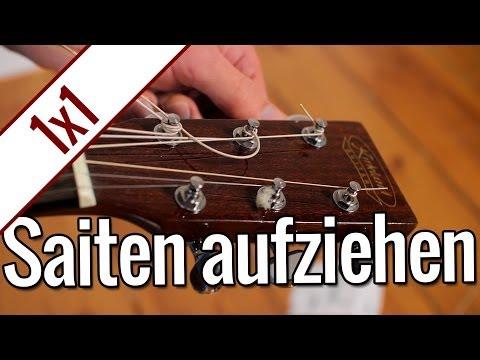 Gitarrensaiten aufziehen | Gitarren 1x1