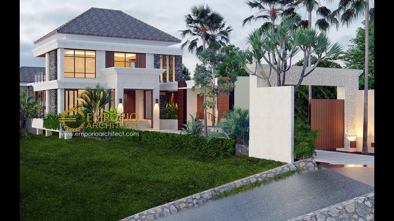 Video 3D Desain Rumah Villa Bali 2 Lantai Ibu Winona di Bandung