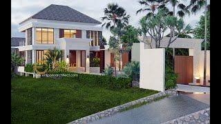 Video Desain Rumah Villa Bali 2 Lantai Ibu Winona di  Bandung