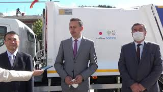 Изјава за медиуми на градоначалникот Мицевски и заменик шефот на мисија на Јапонската амбасада во РС Македонија  г.Такахаши Сатору