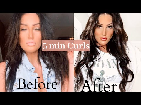HAIR CURLING TRICK UNDER 5 MIN. USING THE BEACHWAVER S1
