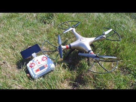 Syma X8HW - WiFi FPV RC Drohne mit Höhenfunktion von TomTop.com // Testbericht & Testflug