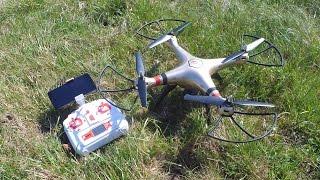 Syma X8HW - WiFi FPV RC Drohne mit Höhenfunktion von // Testbericht & Testflug