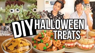 Easy DIY Halloween Treats! Creative + Fun Snacks | Ariel Hamilton