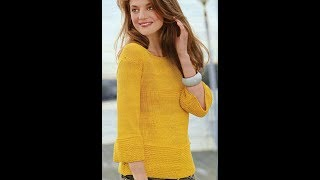 Пуловер Спицами - фото - 2019 / Pullover Spokes - Photo