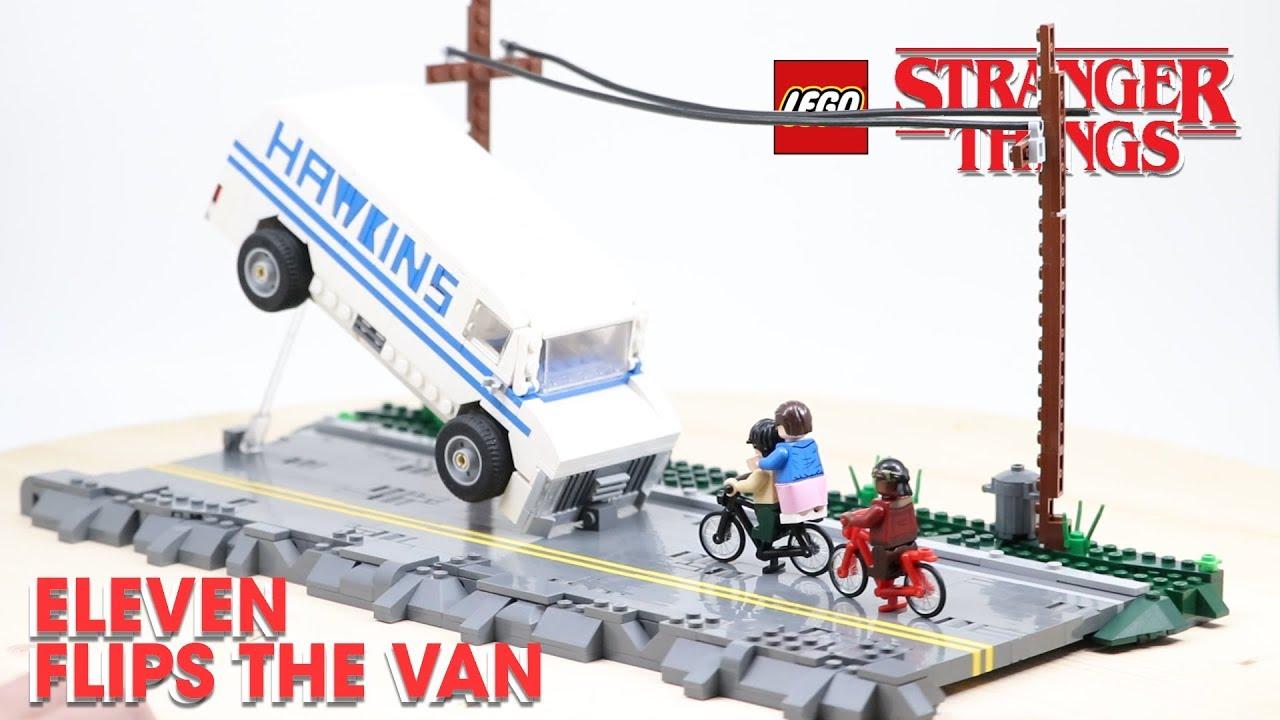 LEGO Eleven FLIPS the VAN Scene From STRANGER THINGS! // Custom LEGO MOC