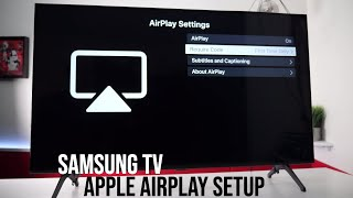Apple Airplay 2 On Samsung 4K TV's