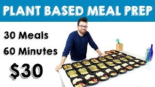 30 Meals for $30 in 60 Minutes || Vegan Meal Prep || Steph and Adam