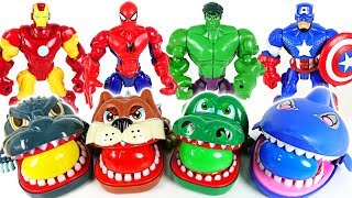 Marvel Avengers Hulk, Spider Man and terrible crocodile, dinosaur, shark surprise egg - DuDuPopTOY | Kholo.pk