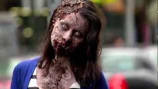 Zombie Experiment NYC зомби флешмоб