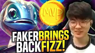 Faker Brings Back His Fizz!   When Faker Picks Fizz Mid! | SKT T1 Replays