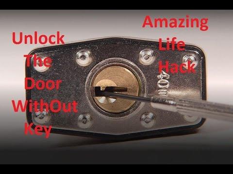 Unlock The Door Without Key - Amazing life hacks with locks