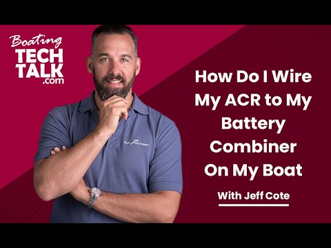 How Do I Wire My ACR to My Battery Combiner?