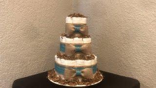 Rustic Themed Diaper Cake