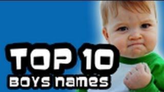 TOP 10 GOOD / BEST BOYS NAMES 2013 - STRONG NAMES
