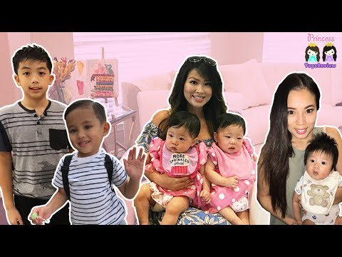 Princess ToysReview at Twin Baby's First Birthday Party!
