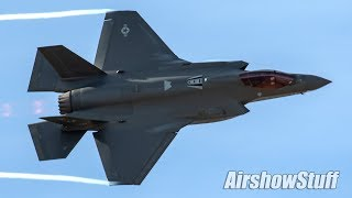 FIRST LOOK   New USAF F 35 Full Aerobatic Demonstration!